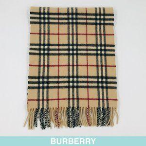Auth Burberry lambswool beige Nova check scarf